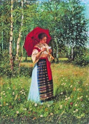 Nikolay Bogdanov Belsky (russe 1868-1945) -russian painter -Lisant une lettre-1892