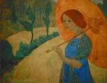 Paul Sérusier (1864-1927) - Mme Sérusier à l'ombrelle 1912