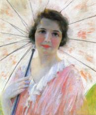 Robert Reid Lewis (1860-1929) - Lady with a parasol
