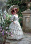 William Hounsom Byles-1872-1916 - The flower garden