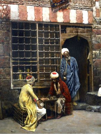 Edwin Lord Weeks USA 1879 - A game of chess in Cairo street