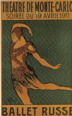 Affiche ballet russe Monte Carlo 1911