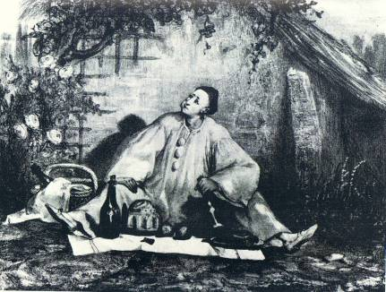 Auguste Bouquet - J.-G. Deburau - 1830 en Pierrot Gourmand