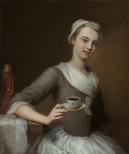 Balthasar Denner (1685-1749) - Jeune fille offrant le café