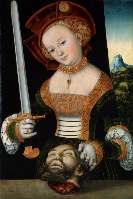 Cranach - Judith avec la tête d'Hollopherne