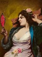 Agapit Stevens (1849-1917) - Femme au miroir