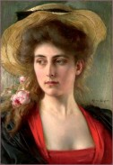 Albert Lynch (1860-1950) - Portrait de femme