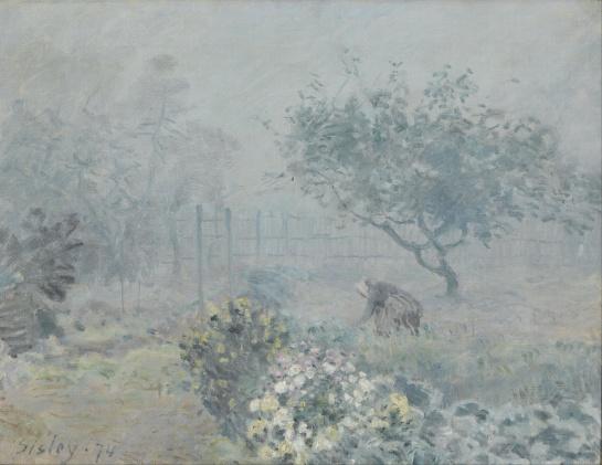Alfred Sisley (1839-1899) - Le brouillard à Voisins - 1874 - Orsay.