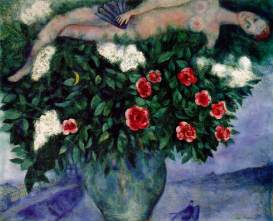 Chagall - La femme et les roses 1929 (Museum of Fine Arts - Houston)