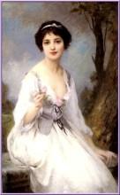 Charles Amable Lenoir (1860-1926) - Femme à la rose