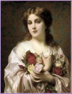 Etienne-Adolphe Piot (1850-1910) - Beauté aux roses