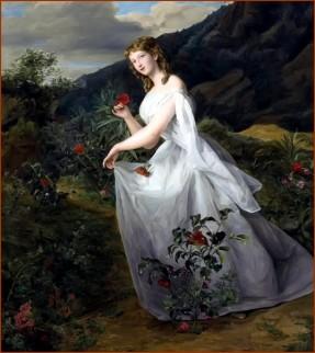 Ferdinand Georg Waldmüller (1793-1865) - Jeune fille dans paysage viennois