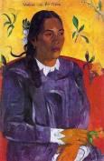 Gauguin - Femme avec une fleur