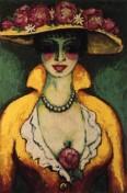 Kees Van Dongen - Femme avec chapeau fleuri