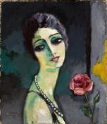Kees Van Dongen - Portrait de Madeleine Grey à la rose