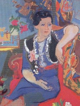 Legueult - Femme à la rose-1941