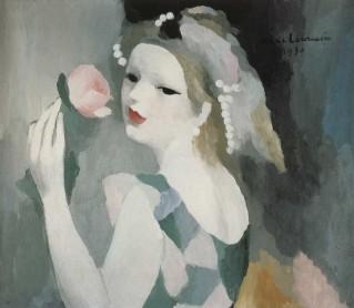 Marie Laurencin - Femme à la rose 1930