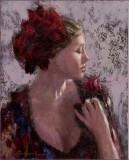 Nenad Mirkovich (1951) - Femme à la rose
