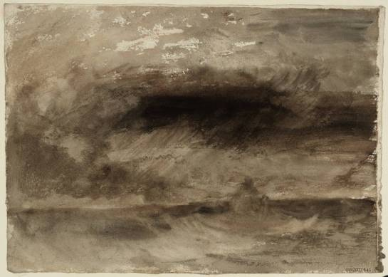 William Turner - Orage en mer - 1824