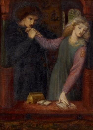 Dante Gabriel Rossetti - Hamlet et Ophélie 1866