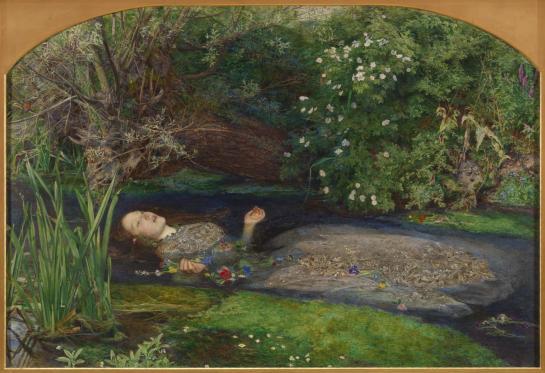 Ophelia (1851-2) par Sir John Everett Millais (1829-1896) - Tate Gallery