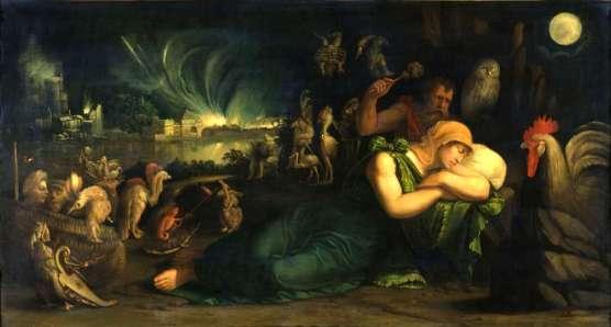 Battista Dossi - Le songe - Allégorie-de-la-nuit (1543)
