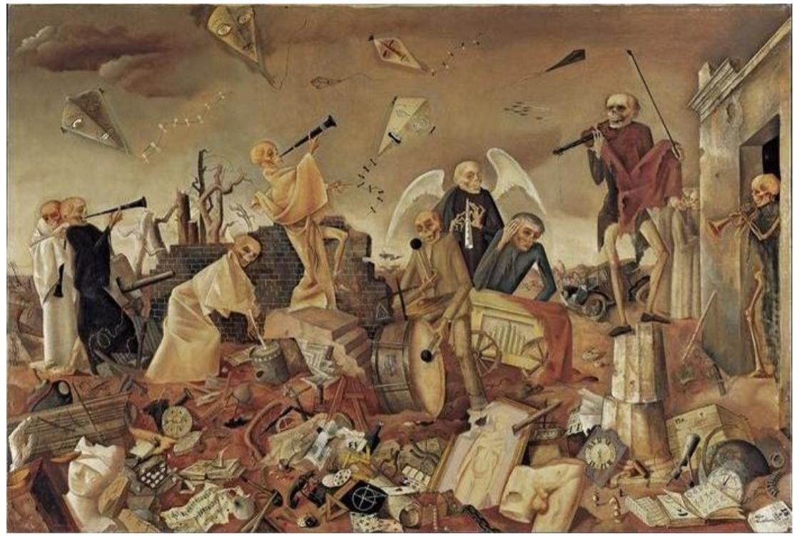 """Félix Nussbaum - Le triomphe de la mort - 1944 """"Si je meurs, ne laissez pas mes peintures me suivre, mais montrez-les aux hommes"""""""