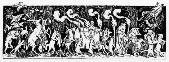 Jacques Callot - Les animaux à l'enterrement du chasseur - gravure