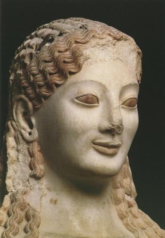 Koré au peplos (visage) - Athènes