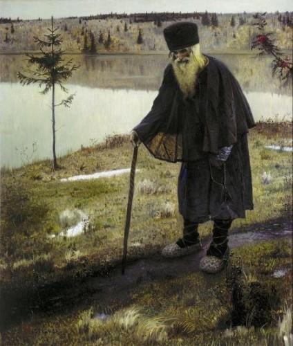 Mikhaïl Nestérov - L'Ermite (1889) - Galerie Tretiakov de Moscou