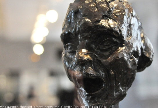 Camille Claudel - Vieil aveugle chantant-(bronze-posthume)-1894