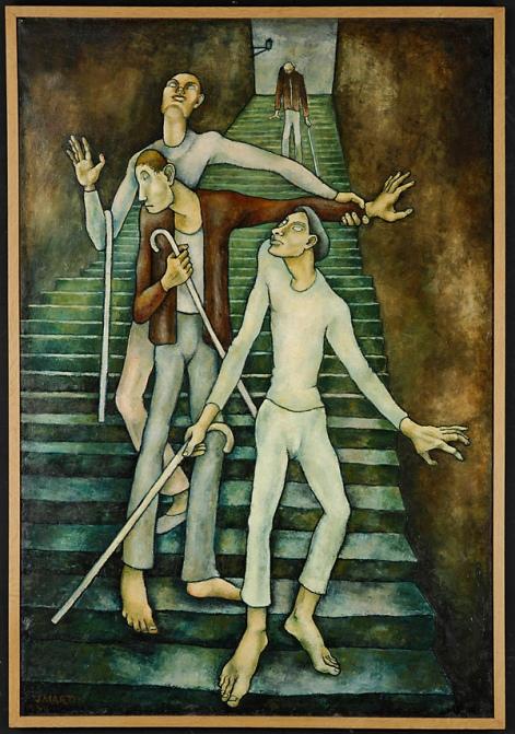 Jean Martin - Les aveugles - 1937 (Musée des BA Lyon)