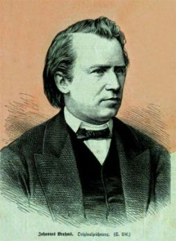 Johannes Brahms (1833-1897) - Gravure sur bois vers1865 (StadtMuseum Bonn)