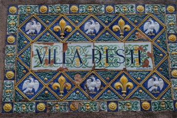 Villa d'Este - plaque