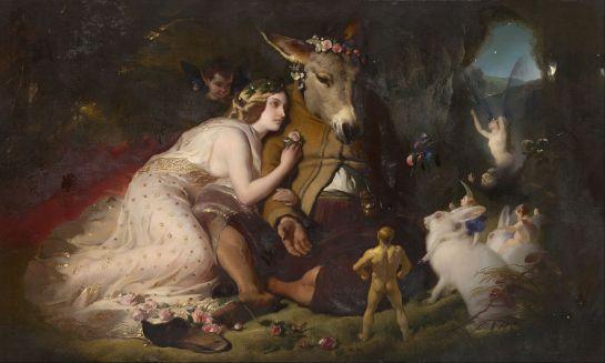 Edwin Landseer -Titania et Bottom (Scène du Songe d'une nuit d'été) - 1848
