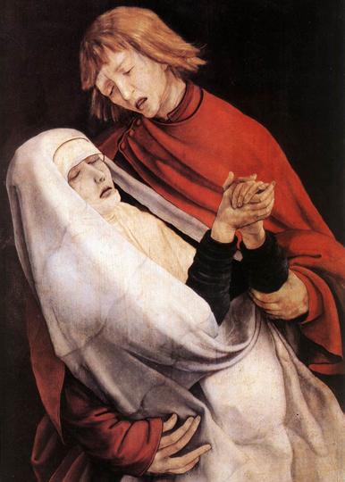 Retable d'Issenheim 1515 - détail (St Jean soutenant Marie au pied de la croix) - Musée Unterlinden Colmar