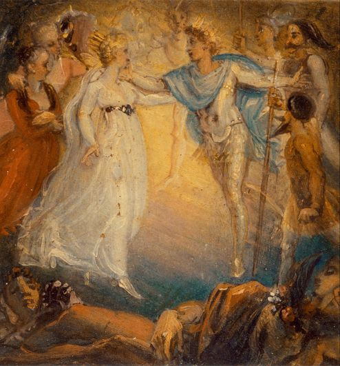 Thomas Stothard (1755-1834) - Oberon et Titania - A_Midsummer Night's Dream