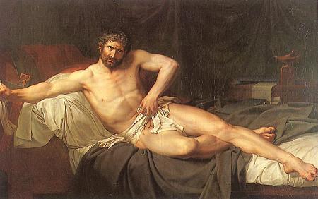 Guillaume Guillon Lethiere - La mort de Caton d'Utique (1795) - Hermitage Saint-Pettersbourg