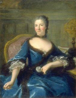 Émilie le Tonnelier de Breteuil, Marquise Du Châtelet-Lomont (1706-49 - par Marianne Loir (Musée des BA Bordeaux)